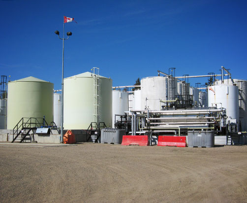 Frac Oil Recycling, Edson, AB